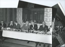"""Lot De 3 PHOTOS  18 X  23.5 Cms """"ACTUALITES MAROCAINES """"PHOTO J.BELIN (Rabat) (MAROC Politique 29-11-1952) - Afrique"""