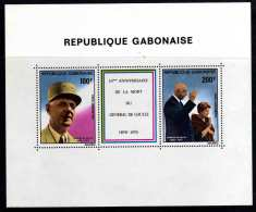 Gabon BF N° 37 XX  10ème Anniversaire De La Mort Du Général De Gaulle, Le  Bloc   Sans Charnière, TB - Gabon