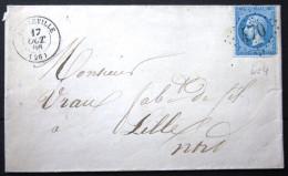 GC 470 + Cachet Type 15  --  BEUZEVILLE  --  EURE --  LSC  -- 1866 --  Indice 4 - 1849-1876: Classic Period