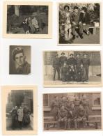 Foto/Photo. Lot De 10. Militaria. Soldats. Militaires. - Krieg, Militär