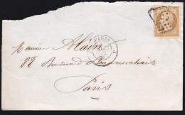 France - Devant De Lettre N° 13 Obl 1861 - Cachets: Losange J / Paris J - 1849-1876: Classic Period