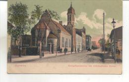 Gleiwitz, Kronprinzenstrasse Mit Altlutherisher Kirche - Poland