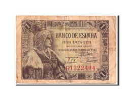 [#303950] Espagne, 1 Peseta Type Isabel - 1-2 Pesetas