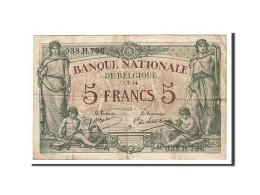 Belgique, 5 Francs Type 1914 - [ 2] 1831-... : Belgian Kingdom