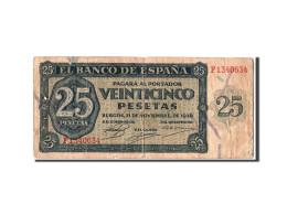 [#303918] Espagne, 25 Pesetas Type 1936 - [ 3] 1936-1975 : Régence De Franco