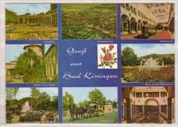 Bad Kissingen , Mehrbildkarte , Kurgarten - Gesamtansicht - Wandelhalle - Partie An Der Saale - Blick Auf Den - Bad Kissingen