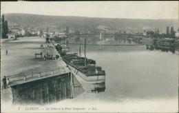 76  ELBEUF / La Seine Et Le Pont Suspendu  / - Elbeuf