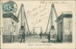 76  ELBEUF / Entrée Du Pont Suspendu   / - Elbeuf