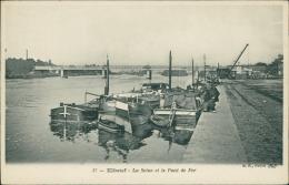 76  ELBEUF / La Seine Et Le Pont De Fer   / - Elbeuf