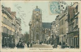 76  ELBEUF / église Saint Jean / Carte Couleur - Elbeuf