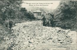 76  ELBEUF / La Cavée Des Ecameaux  /   Orage 1908 - Elbeuf