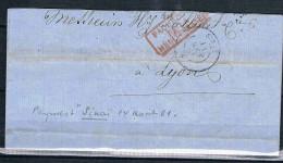 FRANCE MARCOPHILIE   Lettre Transportée Par Le Paquebot  Sinail 14 Aout 1861 - Marcophilie (Lettres)