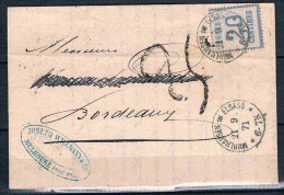 FRANCE MARCOPHILIE   Lettre  Occupation Allemande21 09 1871 Mulhouse - Marcophilie (Lettres)