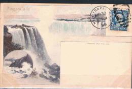 ETATS UNIS  Carte Postale De Niagara - Cartes Souvenir
