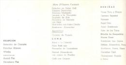 MENU DE FIESTA DE CASAMIENTO JUDIA BUENOS AIRES AÑO 1971 - FIESTA CELEBRADA EN EL CENTRO DE PANADEROS SERVIDA POR SZACHN - Menus