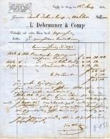 ANTICA  FATTURA-DITTA DEBRUNNER-LUPHIG-1862 - Schweiz