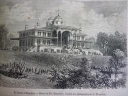 Le Casino D'Arcachon , Gravure D'aprés Dessin De Blanchard 1865 Avec Texte - Documenti Storici