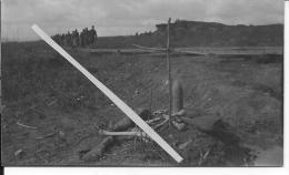 Douaumont Verdun Tombe Française 1 Photo Provenant D´un Album Américain 14-18 Ww1 WwI Wk - War, Military