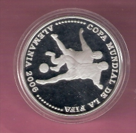 PARAGUAY 1 GUARANI 2003 SILVER PROOF WORLD CUP FOOTBALL 2006 SCRATCHES ONLY ON CAPSEL