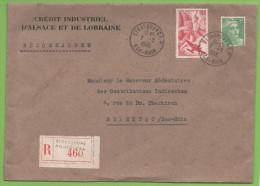 R.Strasbourg Principal  7.7.1945  Bas Rhin Entête : Crédit Industriel D´Alsace Et De Lorraine - Marcophilie (Lettres)