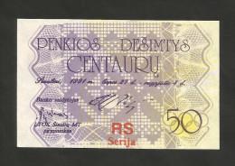 Lithuania - 50 Centauru (1991) - Lituania