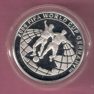 TURKIJE 15 MIO LIRA 2003 SILVER PROOF WORLD CUP FOOTBALL 2006 SCRATCHES ONLY ON CAPSEL