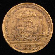 M01642 INAUGURATION Du CHEMIN De FER VERVIER AIX-LA-CHAPELLE 1843 - Locomotive (6 Gr) Armoiries Au Revers - Belgium