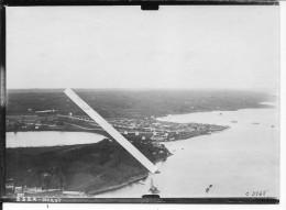 Brest Vue Aérienne Camp Derrière L'hôpital Kerbien Grue Flottante Bretagne 1 Photo 1914-1918 14-18 Ww1 WwI Wk - Guerre, Militaire