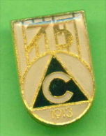 F4295 / SPORT - PFC Slavia Sofia  75 YEARS  Soccer  Football - Fussball - Calcio  Futbol  Bulgaria Bulgarie - Badge Pin - Football