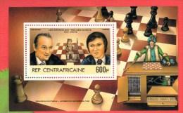 CENTRAFRIQUE 1983 Neuf** Echecs Echec Chess Ajedrez Scacchi Schach - Scacchi