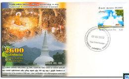 Sri Lanka Stamps 2012, Buddha's Arrival To Mahiyanganaya, Buddhism, Buddha, Special Commemorative Cover - Sri Lanka (Ceylon) (1948-...)