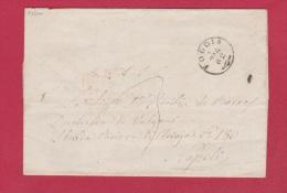ITALIE  //  LETTRE DE FOGGIA  //  POUR NAPOLI  //   1862 - Machine Stamps (ATM)