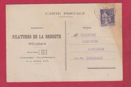 CARTE POSTALE  DE ROUBAIX  //  POUR JAVERNAC  //  1933  //  FILATURE LA REDOUTE - Zonder Classificatie