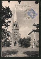 CPA Lamalou-les-Bains, L'Eglise , Villa De La Terrasse - Lamalou Les Bains