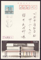 Japan Advertising Postcard, ITOKI, Desk, Brain, Postally Used (jadu420) - Interi Postali