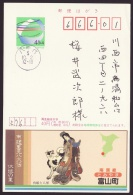 Japan Advertising Postcard, Satomi Hakkenden, Novel, Dog, Princess, Postally Used (jadu422) - Interi Postali