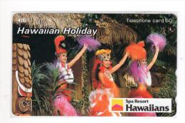 HAWAII SPA RESORT HAWAIIANS Télécarte Japonaise - Hawaï