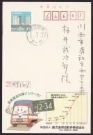 Japan Advertising Postcard, Truck, Number Plate, Postally Used (jadu451) - Interi Postali
