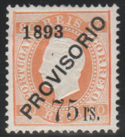 PORTUGAL 1893 - Yvert #95 - MLH * - Usado