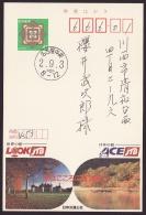 Japan Advertising Postcard, Travel Bureau, Postally Used (jadu470) - Interi Postali