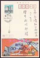 Japan Advertising Postcard, Cable Television, Postally Used (jadu585) - Cartes Postales