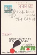 Japan Advertising Postcard, TV Nagasaki, Postally Used (jadu608) - Cartes Postales