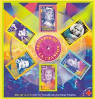 Bloc Feuillet Neuf** - Personnages Célèbres Artistes De La Chanson Française Croix-Rouge - BF 37 (Yvert) - France 2001 - Nuevos