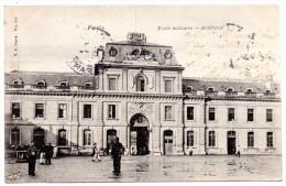 CP, MILITARIA, CASERNES, Ecole Militaire, Artillerie, Voyagé En 1903 - Kasernen