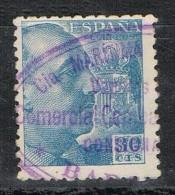 Sello 30 Cts Caudillo, Tampon BARCELONA, Marca Maritima Vapor , Num 924 º - 1931-Today: 2nd Rep - ... Juan Carlos I