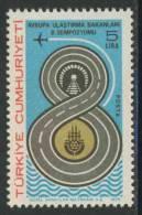 Turkey Turquie Turkei 1979 Mi 2492 YT 2261 Sc 2119 ** 8th Eur. Communications Ministers Symposium /  Verkehrsminister - Transportmiddelen