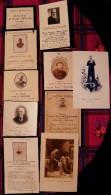 LOT DE 8 FAIRE-PART DE DEUIL + 1 IMAGE SAINTE + 1 IMAGE DE COMMUNION - Obituary Notices