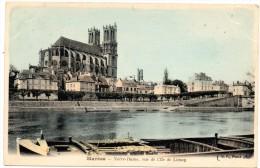 CP, 78, MANTES, Notre-Dame, Vue De L'Ile De Limay, Voyagé En 1904 - Mantes La Ville