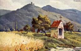 Rare HANSI J.J WALTZ Vue D'Alsace PLIXBURG - Hansi