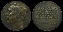 AG01664 FONDS NATIONAL RECHERCHE SCIENTIFIQUE 1928 (Ag 350 Gr) Profil ALBERT I Au Revers - Ecrin D´origine - Royaux / De Noblesse